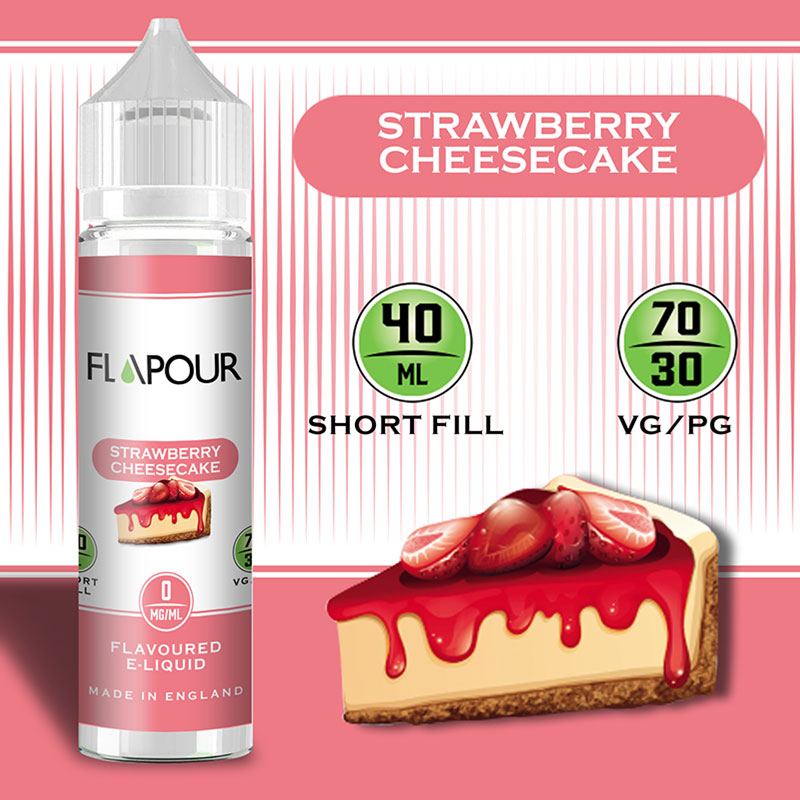 Flapour, Strawberry Cheesecake VG70/PG30 - 0mg